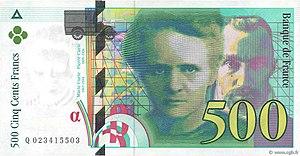 500 Franc Vorderseite