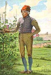 5c7b67c2eb0 Danish farmer wearing traditional clothing