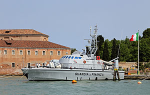 Law enforcement in Italy - Patrol boat of the Guardia di Finanza.