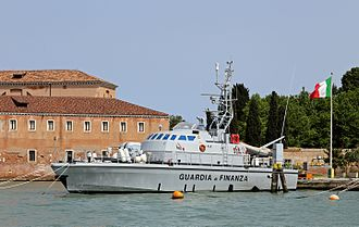Law enforcement in Italy - Patrol boat of the Guardia di Finanza.