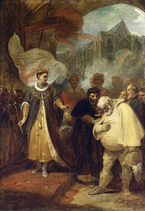 Henry IV, Part 2 - Falstaff rebuked, Robert Smirke, c. 1795