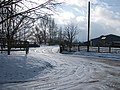 Farm entrance in winter - geograph.org.uk - 1146043.jpg