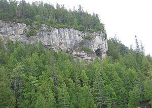Greenbelt (Golden Horseshoe) - The escarpment at the Fathom Five National Marine Park.