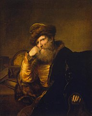 Portrait of a Scholar Sitting at the Table