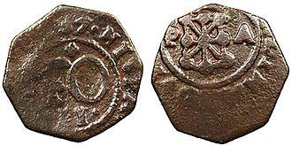 Cornado - Navarran cornado minted in 1757, during the reign of Ferdinand VI