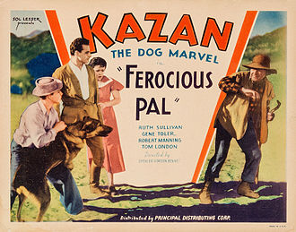 Sol Lesser - Lobby card for Ferocious Pal (1934)