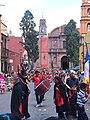 Festejo de San Miguel, grupo con vestimenta roja (2015).JPG