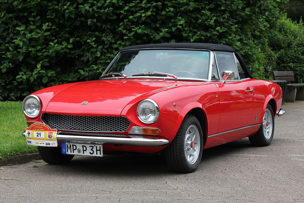 Fiat 124 sport spider wikipedia for Fiat 124 spider motor