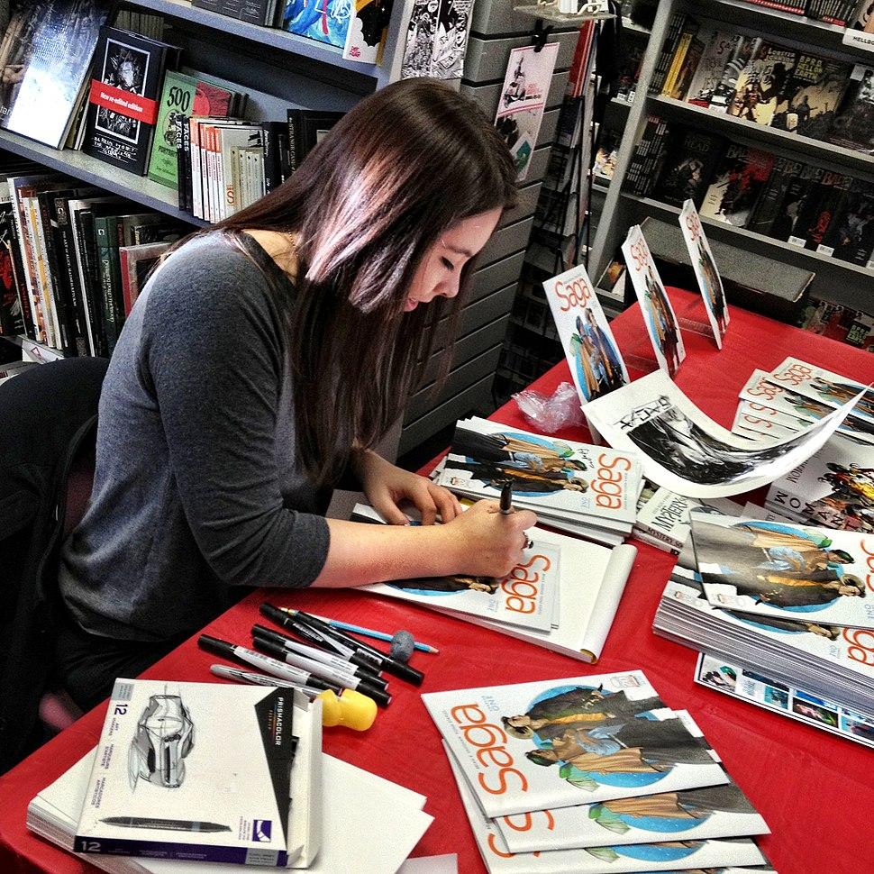 Fiona staples signing another dimension comics calgary alberta 2012