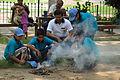 Fire-making - Survival Programme - Summer Camp - Nisana Foundation - Sibpur BE College Model High School - Howrah 2013-06-09 9694.JPG