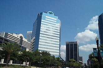 First Union - First Union Bank Tower in Jacksonville, Florida.