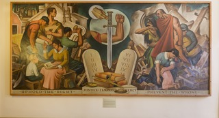 Justice Tempered with Mercy (mural study, Roswell, New Mexico Courthouse)
