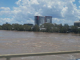 Fitzroy River (Queensland) - Image: Fitzroy River Flood 2013