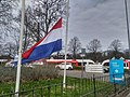 Flag halfway for the death of Mayor Pieter Smit, Winschoten (11 April 2018) 09.jpg