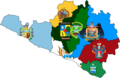 Flag map of provinces of Arequipa.png