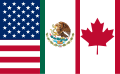 Flag of the North American Free Trade Agreement (standard version).svg