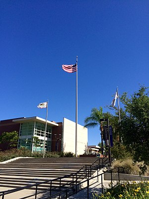 California Lutheran University - Flagpole at California Lutheran University, 2014.