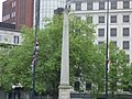 Flags at half mast - Birmingham Cathedral (34835152311).jpg
