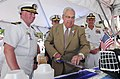 Flickr - Official U.S. Navy Imagery - Thomas M. Menino, mayor of Boston, cuts a cake during the Boston Harborfest opening ceremony..jpg