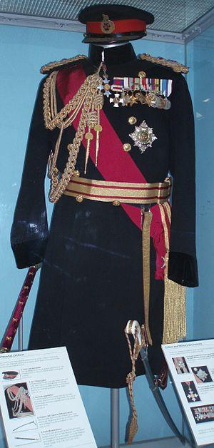Michael Carver, Baron Carver - Carver's uniform at the Bovington Tank Museum.