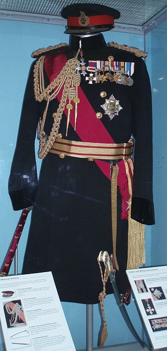Michael Carver, Baron Carver - Carver's uniform at the Bovington Tank Museum.