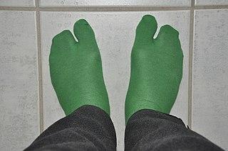 Japanese sock with split toe