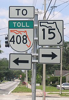 Florida State Road 15 Highway in Florida
