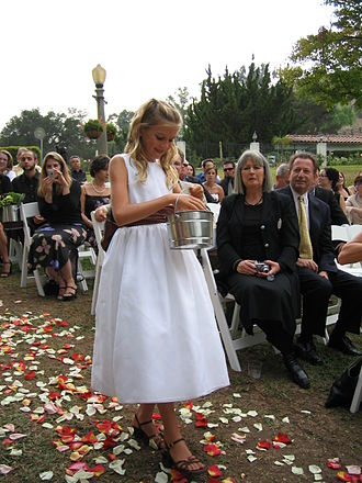 Flower girl - Flower girl at a wedding