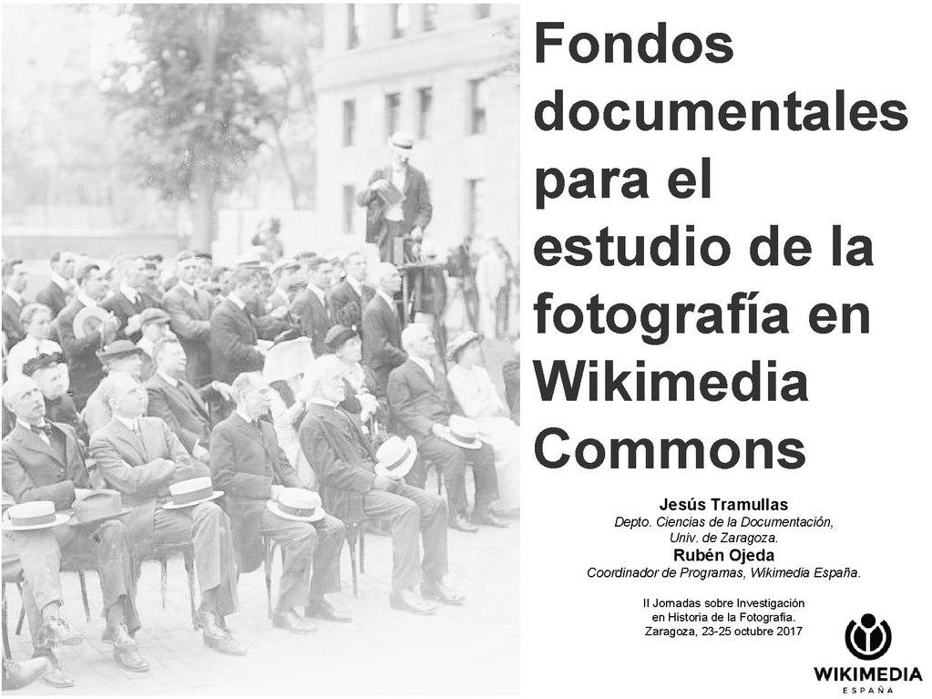 Fondos documentales para el estudio de la historia de la fotografía en Wikimedia Commons