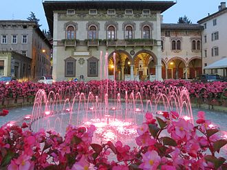 Rovereto - The Rosmini Fountain in Rovereto