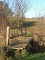 Footbridge in little valley between Nedging and Naughton - geograph.org.uk - 1071278.jpg