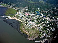 Aerial view of Fort Chipewyan
