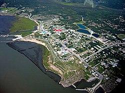 Vista aérea de Fort Chipewyan