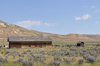 National Register of Historic Places listings in Lincoln County, Wyoming - Image: Fossil WY Oregon Short Line RR Depot