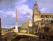 François Marius Granet - La Trinité-des-Monts et la Villa Médicis, à Rome.jpg