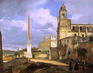 Trinità dei Monti - The Church in the Napoleonic era. François Marius Granet, La Trinité-des-Monts et la Villa Médicis, à Rome (1808).
