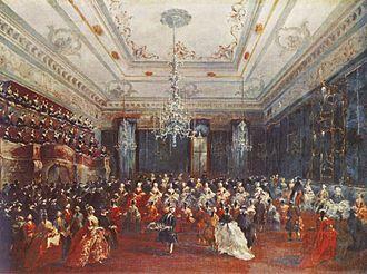 Ospedale della Pietà - Gala Concert in Old Procuratory for Czar's Daughter (1780) by Guardi.
