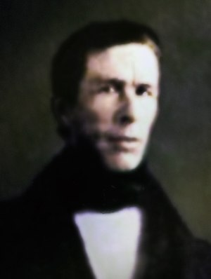Francisco Javier Zaldúa - Altered photograph of Francisco Javier Zaldúa by John A. Bennet ca. 1850.