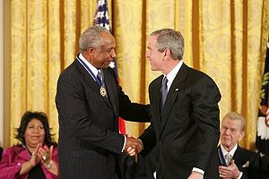 Frank Robinson - Robinson being awarded the Presidential Medal of Freedom