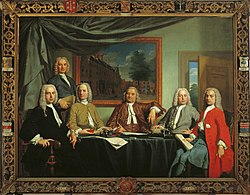 Frans Decker: Portrait of the regents of the Proveniershuis in Haarlem