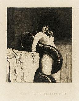 Franz von Stuck - Zmysłowość, ok. 1891