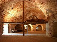 Fredriksborgs fästnings bevarade 1700-talsinteriör.