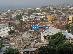 View of Freetown from Tower Hill