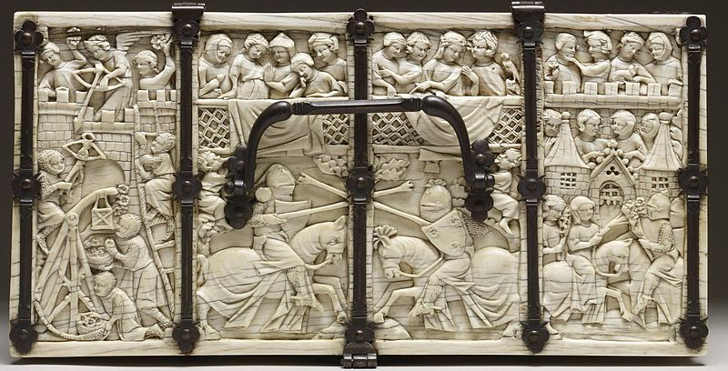 French - Casket with Scenes of Romances - Walters 71264 - Top.jpg