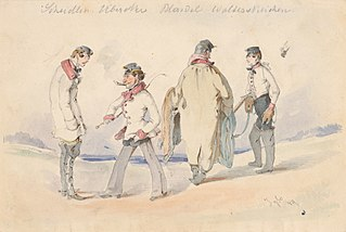Study of Four Men in Military Uniforms