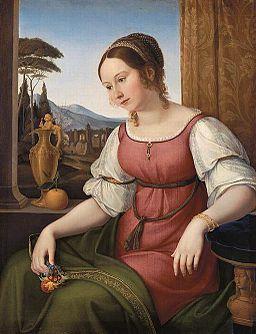 Friedrich Wilhelm von Schadow - Portret młodej rzymianki (Angelina Magtti)