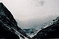 Frozen lake Louise, Alberta.jpg