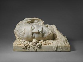 Jacques Damala - Funerary bust made of Damala by Sarah Bernhnardt (1889)