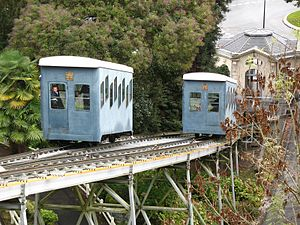 Funiculaire de Pau - Cars at the passing loop
