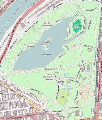 Parc de la Tête d'or - Map of the park